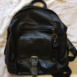 Leather Coach Backpack